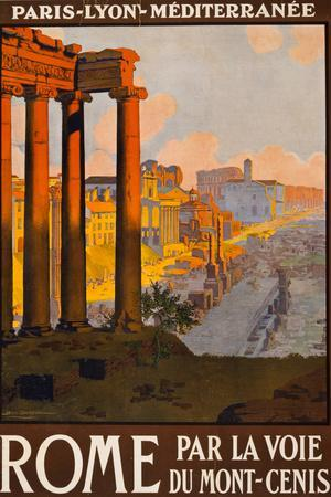 Rome Italy Tourism Travel Vintage Ad
