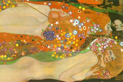 Gustav Klimt Water Snakes Friends II