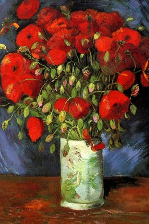 Vincent van Gogh Vase with Red Poppies