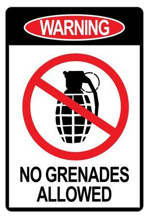 Jersey Shore No Grenades Allowed Sign TV