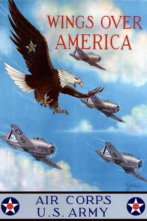 Wings Over America Air Corps U.S. Army - WWII War Propaganda
