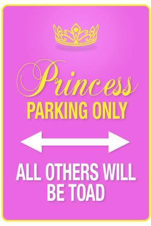 Princess Parking Only Pink