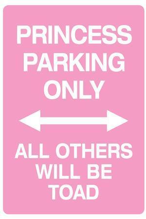 Princess Parking Only No Parking Pink