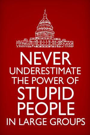 Never Underestimate Stupid People in Large Groups  - Humor