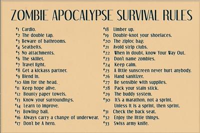 Zombie Apocalypse Rules Movie