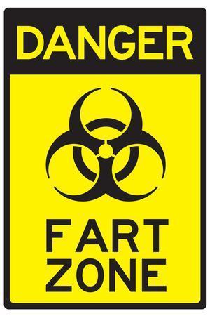 Danger Fart Zone Humor