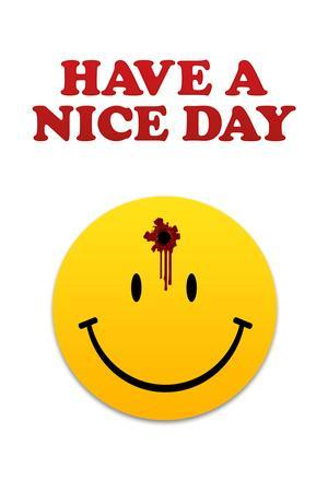 Have a Nice Day Smiley Face with Bullet Hole