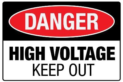 High Voltage Warning Keep Out