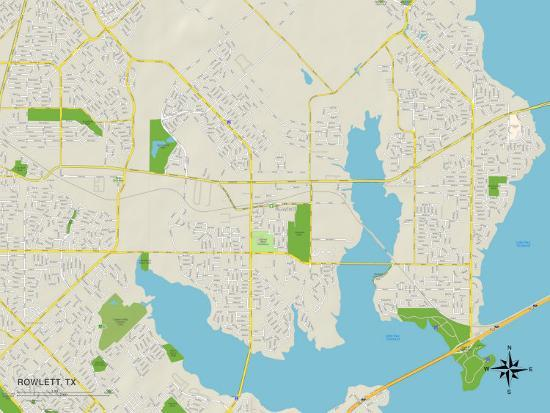 Political Map Of Rowlett Tx
