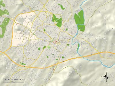 Political Map of Charlottesville, VA