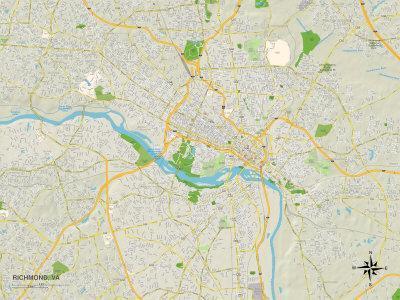 Political Map of Richmond, VA