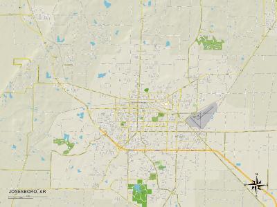 Political Map of Jonesboro, AR