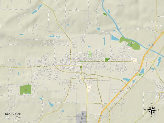 Political Map of Searcy, AR Posters at AllPosters.com
