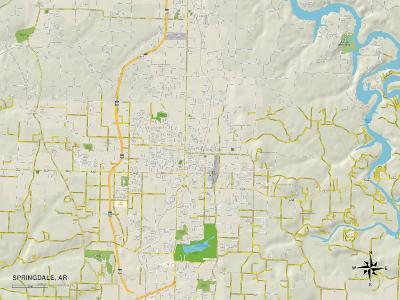 Political Map of Springdale, AR