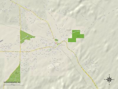 Political Map of Wickenburg, AZ