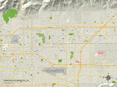 Political Map of Rancho Cucamonga, CA