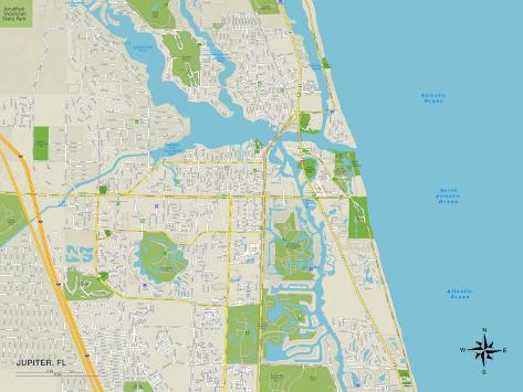 political map of jupiter  fl prints at allposters com