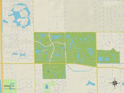 Political Map of Doral, FL