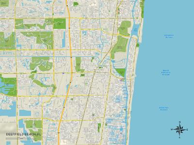 Political Map of Deerfield Beach, FL