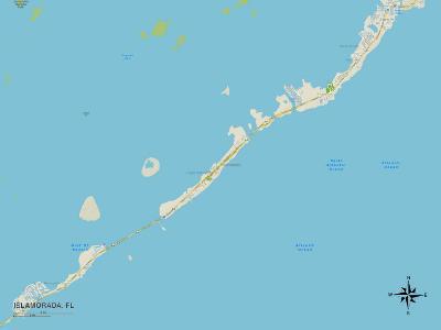 Political Map of Islamorada, FL