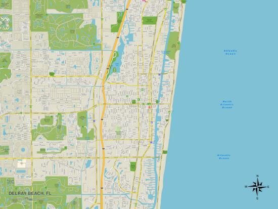 Map Of Delray Beach Florida.Political Map Of Delray Beach Fl Posters At Allposters Com