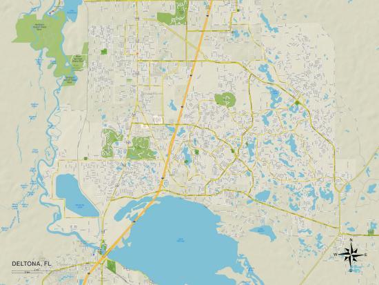 Political Map of Deltona, FL Prints at AllPosters.com on