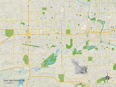 Political Map of West Des Moines, IA