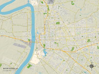Political Map of Baton Rouge, LA