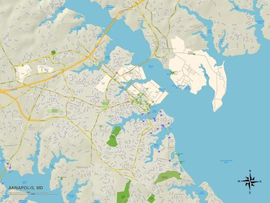 Political Map of Annapolis, MD