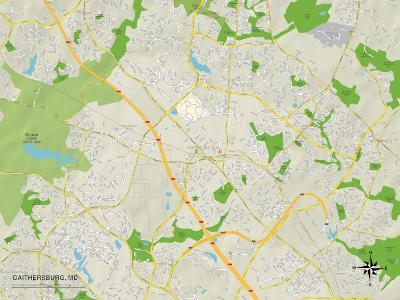 Political Map of Gaithersburg, MD