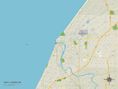 Political Map of Saint Joseph, MI