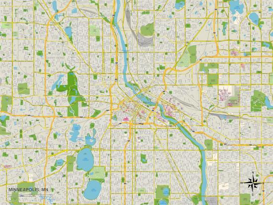 Political Map of Minneapolis, MN