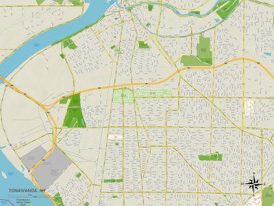 Political Map of Tonawanda, NY