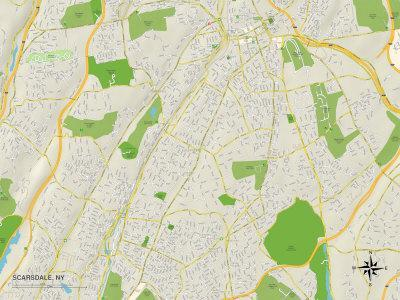 Political Map of Scarsdale, NY