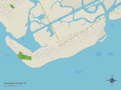 Political Map of Sullivans Island, SC