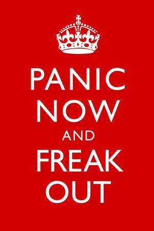 Panic Now And Freak Out Keep Calm Inspired