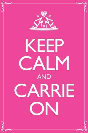 Sex and the City 2 Movie Keep Calm and Carrie On