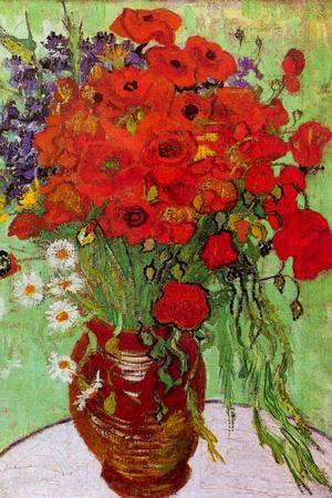 Vincent van Gogh Still Life Red Poppies and Daisies