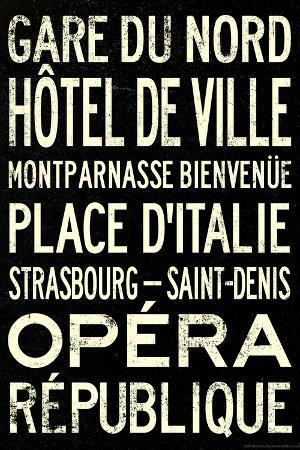 Paris Metro Stations Vintage RetroMetro Travel