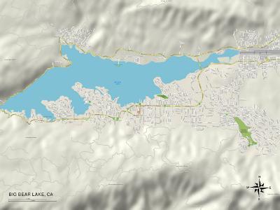 Political Map of Big Bear Lake, CA