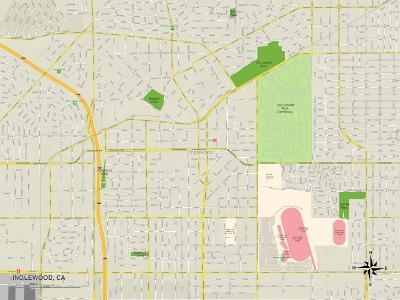Political Map of Inglewood, CA