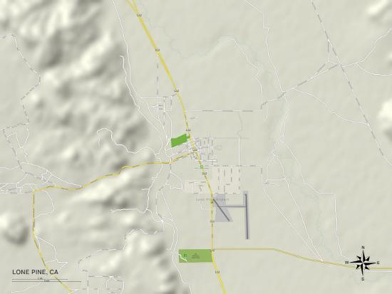 Political Map Of Lone Pine Ca Posters At Allposters Com