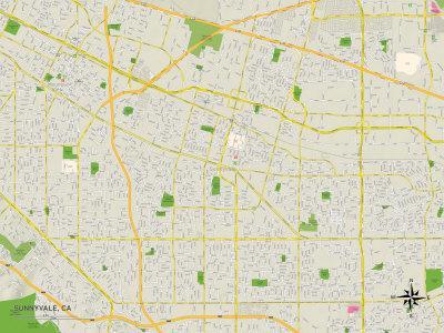 Political Map of Sunnyvale, CA