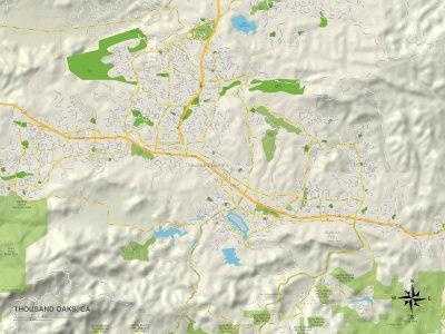 Political Map of Thousand Oaks, CA