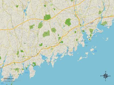 Political Map of Darien, CT
