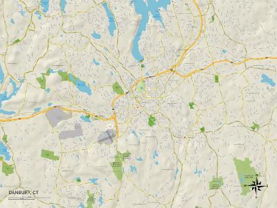 Political Map of Danbury, CT