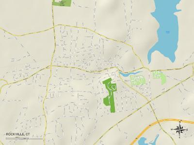 Political Map of Rockville, CT