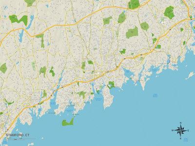 Political Map of Stamford, CT