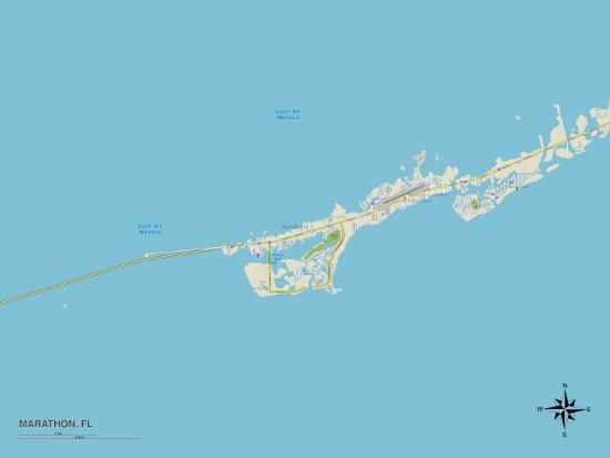 Map Of Marathon Florida.Political Map Of Marathon Fl Print At Allposters Com