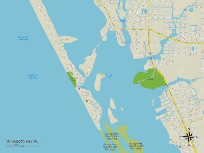 Political Map of Manasota Key, FL